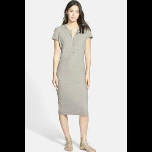 James Perse Short Sleeve Henley Dress 2